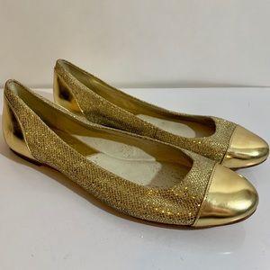 MICHAEL Michael Kors Gold Glitter Flats Size 8m